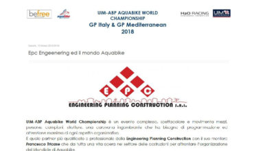 EPC ed il mondo Aquabike Word Championship